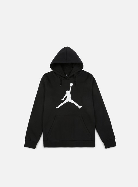 felpe jordan flight fleece jumpman air hoodie black white