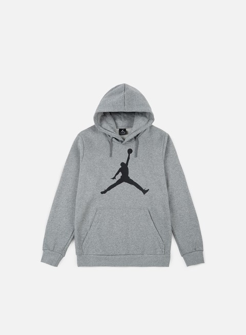 felpe jordan flight fleece jumpman air hoodie dark grey heather black