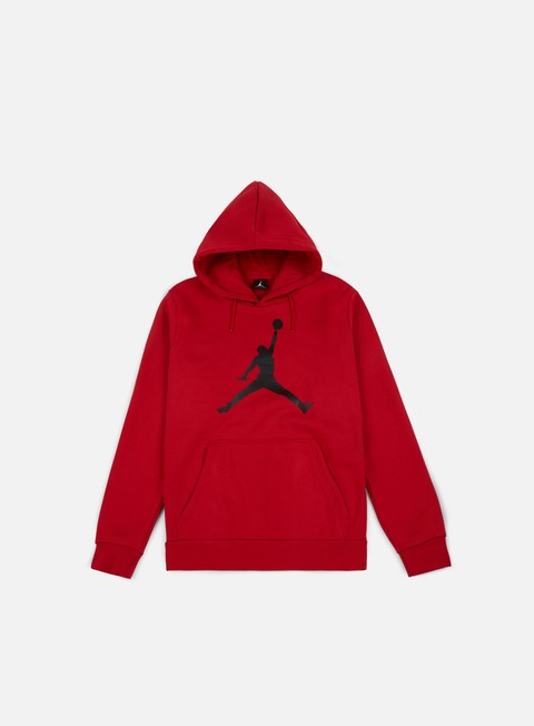 felpe jordan flight fleece jumpman air hoodie gym red black
