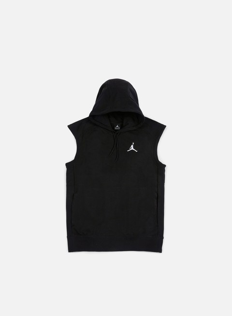 felpe jordan flight fleece lite sleeves hoodie black white