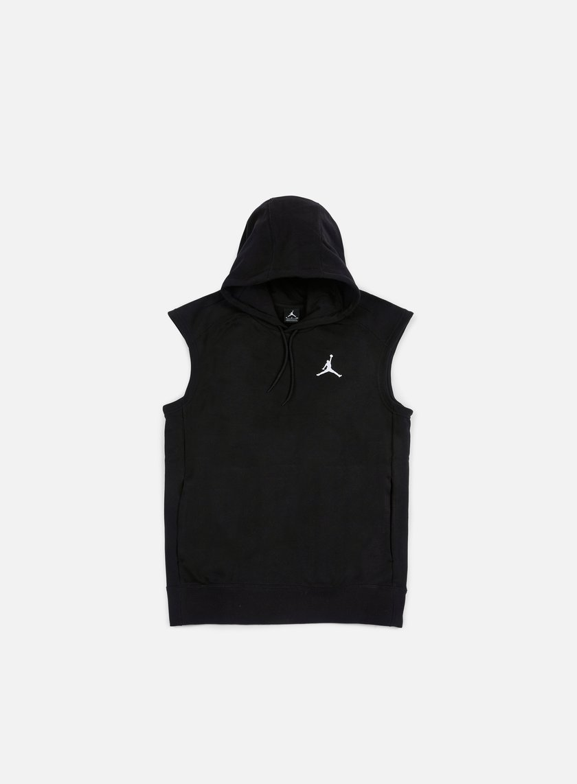 Jordan - Flight Fleece Lite Sleeves Hoodie, Black/White
