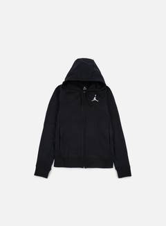 Jordan - Flight Lite Full Zip Hoodie, Black/White 1