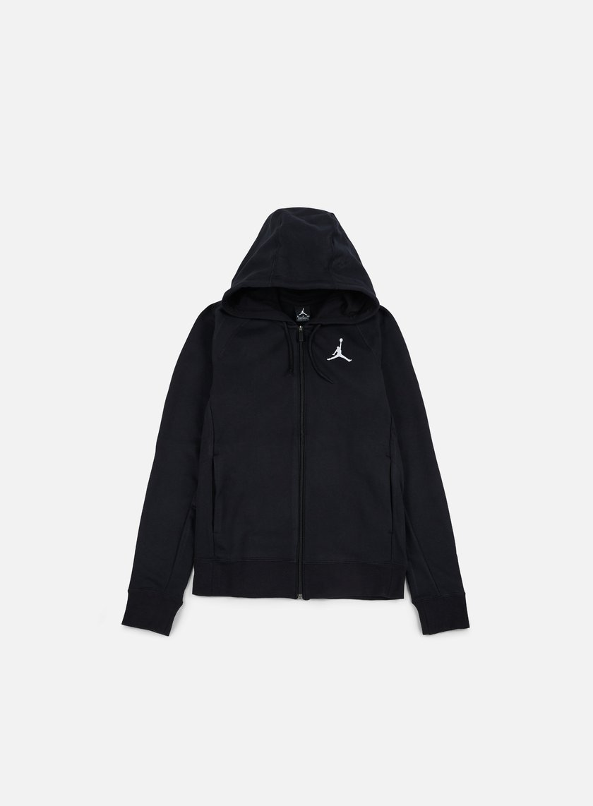 Jordan - Flight Lite Full Zip Hoodie, Black/White