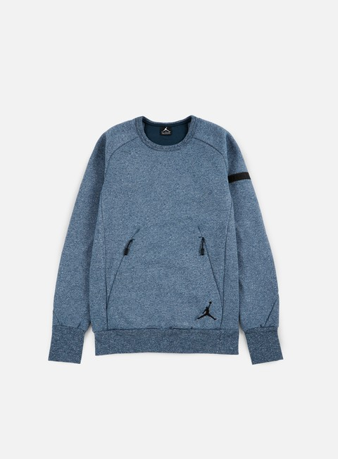 felpe jordan icon fleece crewneck armory navy black