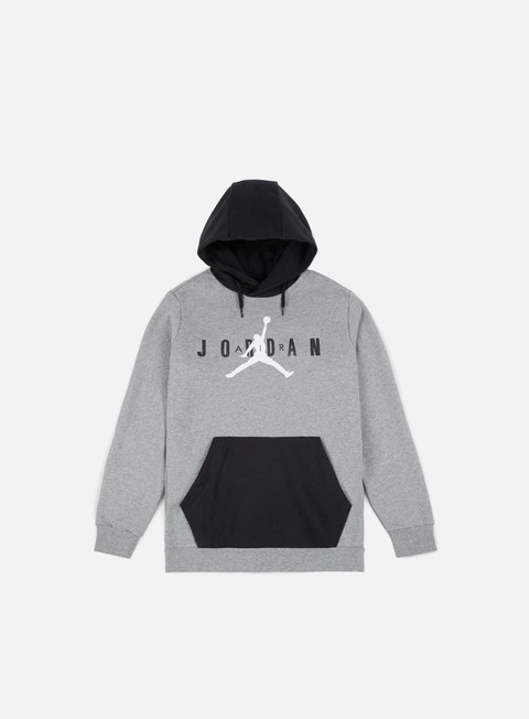 felpe jordan jumpman air fleece hoodie carbon heather white