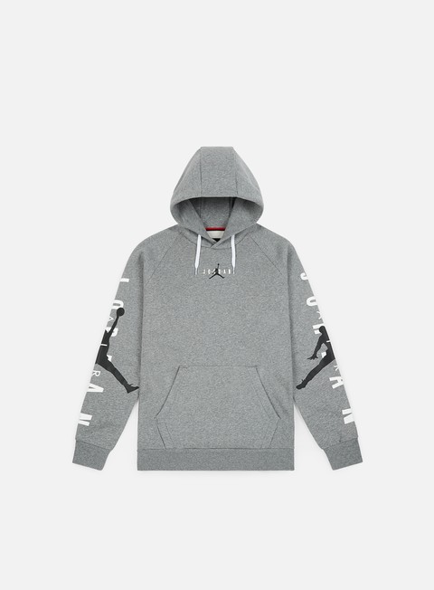 felpe jordan jumpman air hoodie carbon heather black