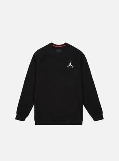 Jordan - Jumpman Fleece Crewneck, Black/White
