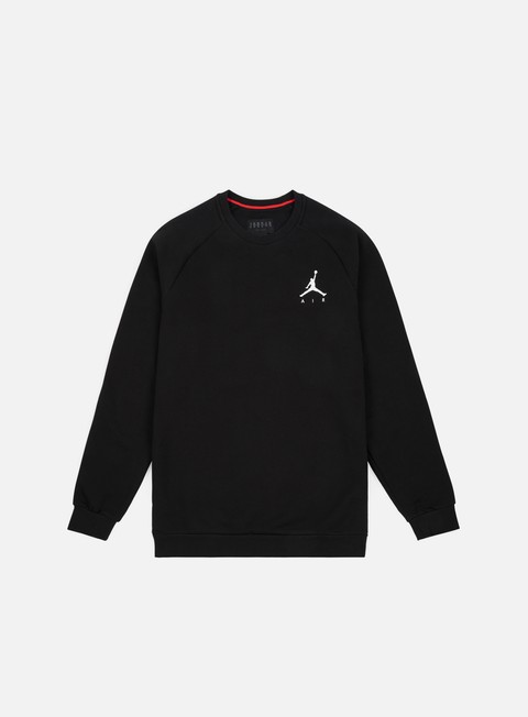 felpe jordan jumpman fleece crewneck black white