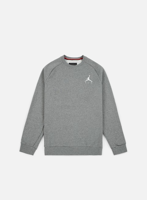 felpe jordan jumpman fleece crewneck carbon heather white