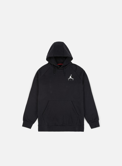 felpe jordan jumpman fleece hoodie black white