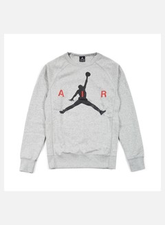 Jordan - Jumpman Graphic Brushed Crewneck, Dark Grey Heather/Black 1