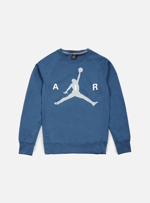 felpe jordan jumpman graphic brushed crewneck french blue wolf grey