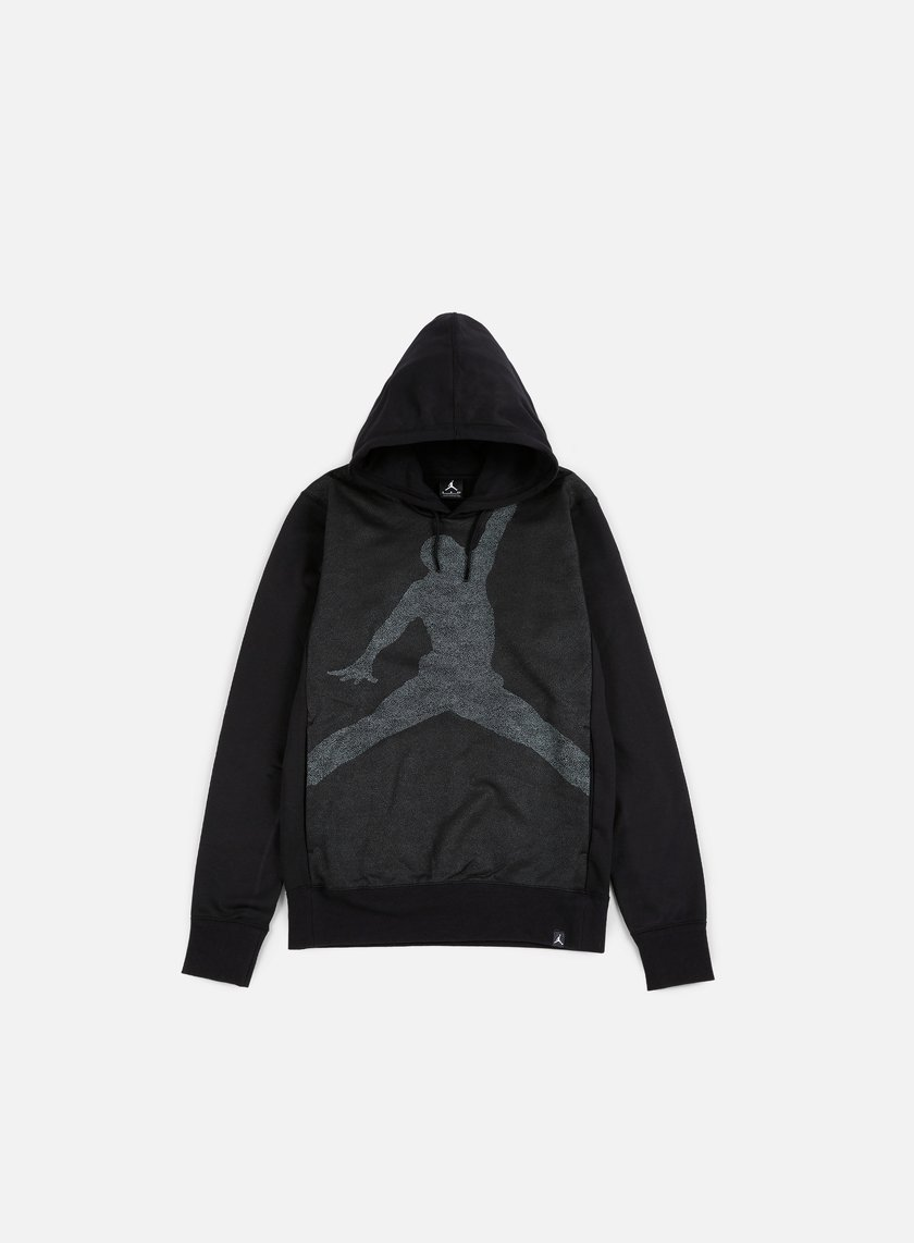 Jordan - Jumpman Graphic Brushed Hoody, Black/Cool Grey