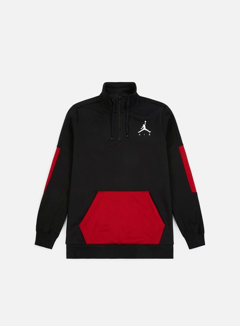 Sale Outlet Zip Sweatshirts Jordan Jumpman Hybrid Half Zip Fleece