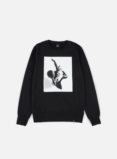 felpe jordan legend flight lite crewneck black