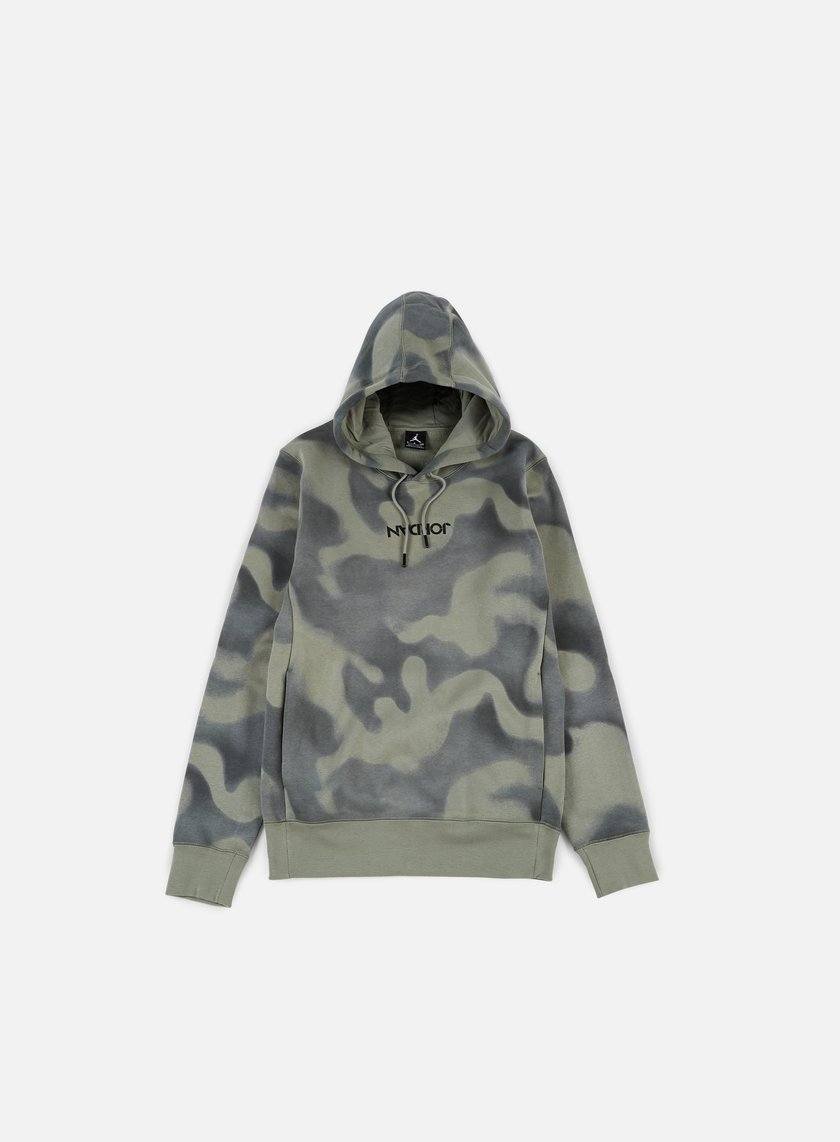 Jordan - P51 Flight Hoodie, River Rock/Dark Stucco