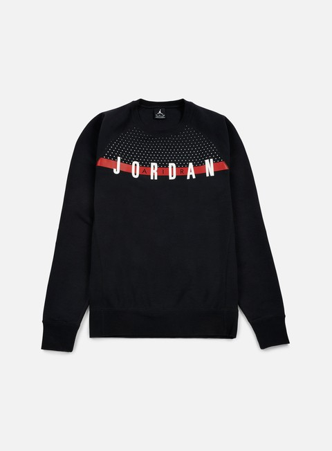 felpe jordan seasonal graphic crewneck black white