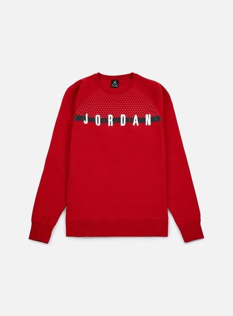 felpe jordan seasonal graphic crewneck gym red white