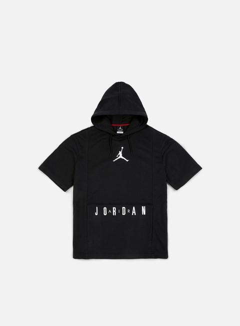 Outlet e Saldi Felpe con Cappuccio Jordan Short Sleeve Basketball Hoodie