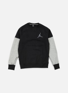 Jordan - The Varsity Graphic Crewneck, Black/Cool Grey