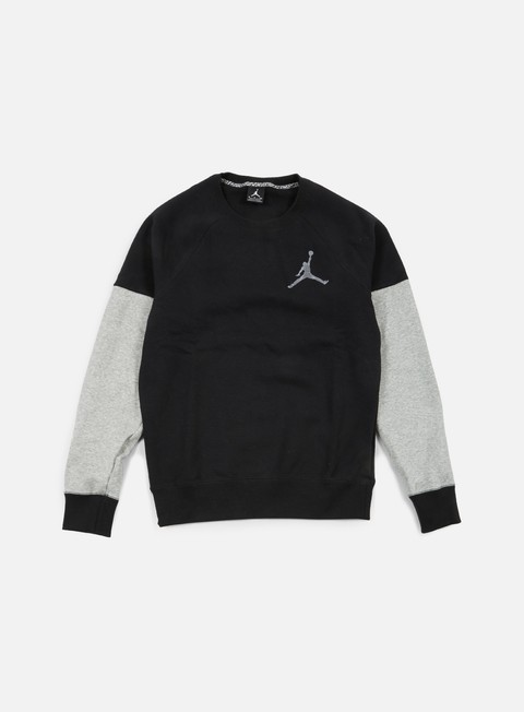 felpe jordan the varsity graphic crewneck black cool grey