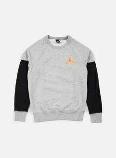 Jordan - The Varsity Graphic Crewneck, Dark Grey Heather/Atomic Orange 1