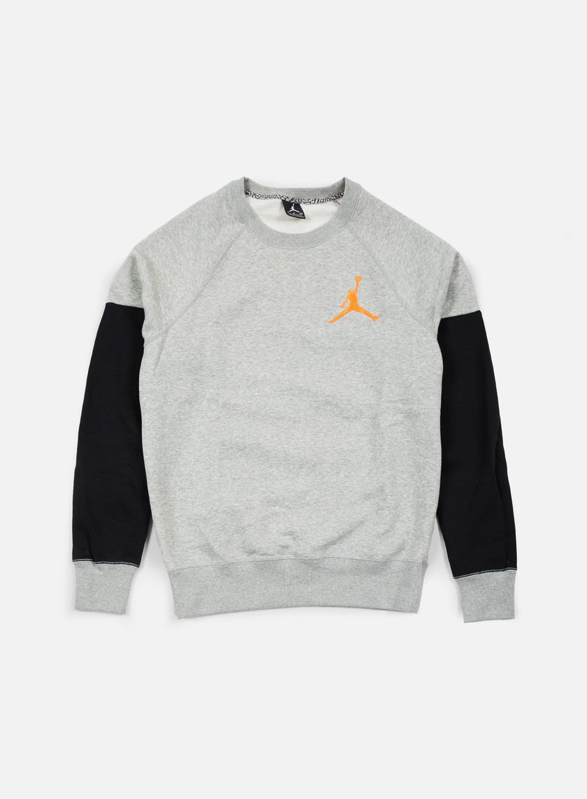 Jordan - The Varsity Graphic Crewneck, Dark Grey Heather/Atomic Orange