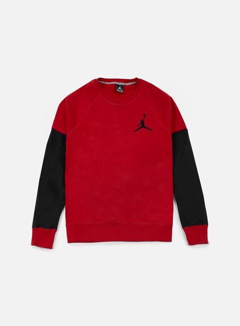 felpe jordan the varsity graphic crewneck gym red black