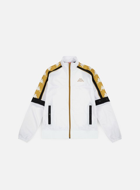 felpe kappa 222 banda 10 arany jacket white yellow gold