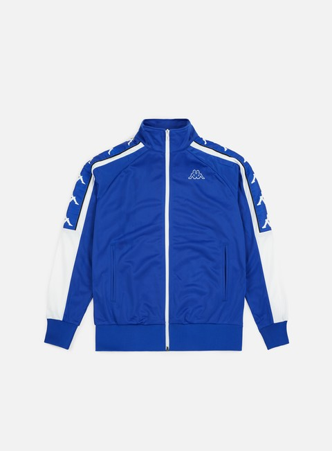 felpe kappa 222 banda ahran jacket blue royal white