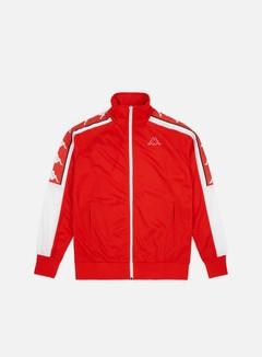 Kappa - 222 Banda Ahran Jacket, Red Flame/White