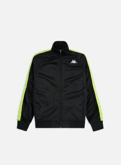 Kappa - 222 Banda Anniston Slim Jacket, Black/Lime/White