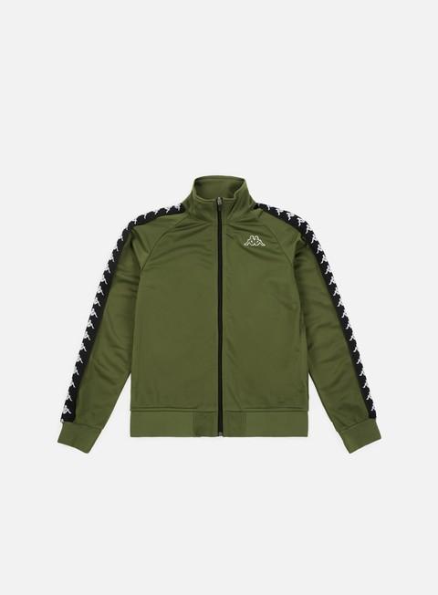 felpe kappa 222 banda anniston slim jacket green cypress black