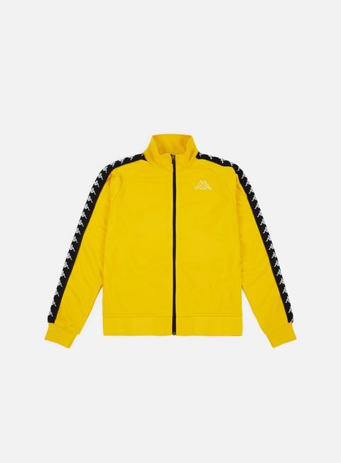 felpe kappa 222 banda anniston slim jacket yellow mustard black