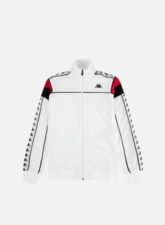 Kappa - 222 Banda Merez Slim Track Top, White/Red/Black