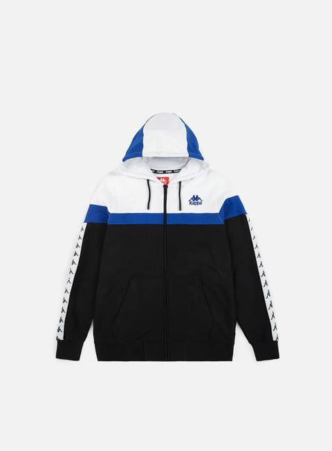 felpe kappa authentic anabe hoodie black white blue