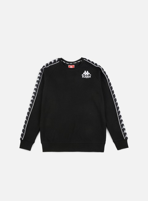felpe kappa authentic hassan crewneck black