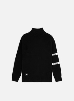 Kappa - Authentic JPN Denny Sweater, Black/White Antique