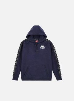 Kappa - Authentic Porta Hoodie, Blue Greystone/Black