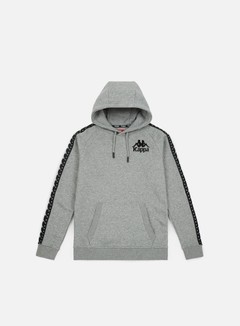 Kappa - Authentic Porta Hoodie, Grey Medium Melange/Black
