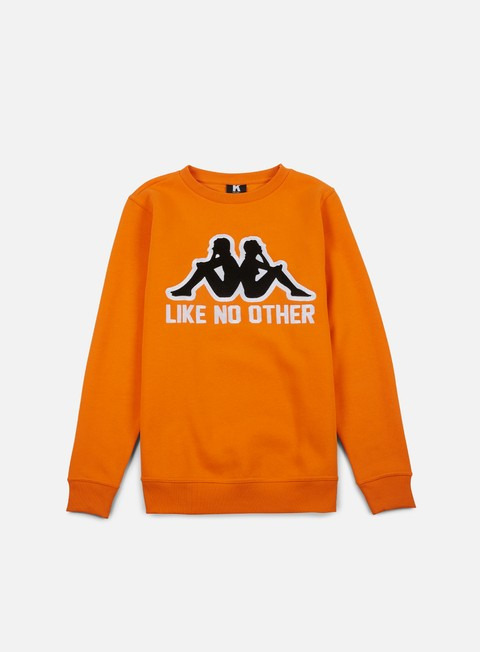felpe kappa kontroll big omni crewneck orange rust