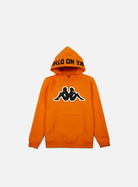 felpe kappa kontroll big omni hoodie orange rust