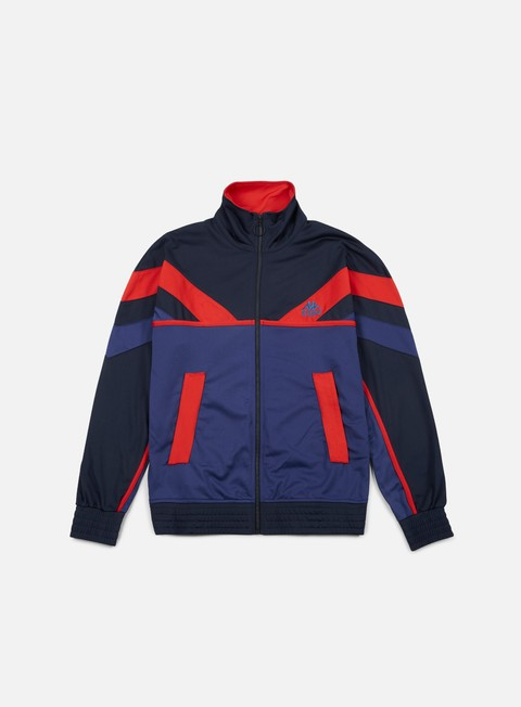 felpe kappa kontroll track top blue dark blue navy red