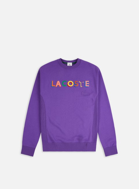 Lacoste Live Embroidered Lettering Crewneck