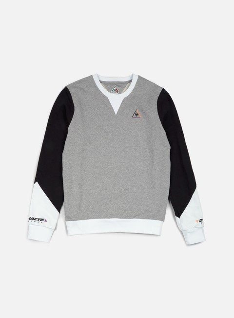 felpe le coq sportif dynactif n 2 crewneck light heather