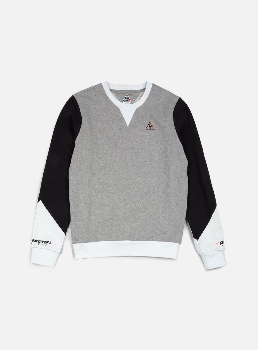 Le Coq Sportif - Dynactif N. 2 Crewneck, Light Heather