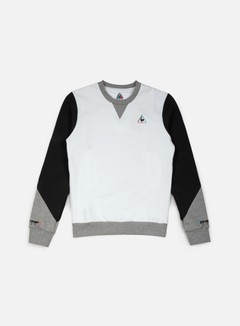 Le Coq Sportif - Dynactif N.1 Crewneck, Optical White 1