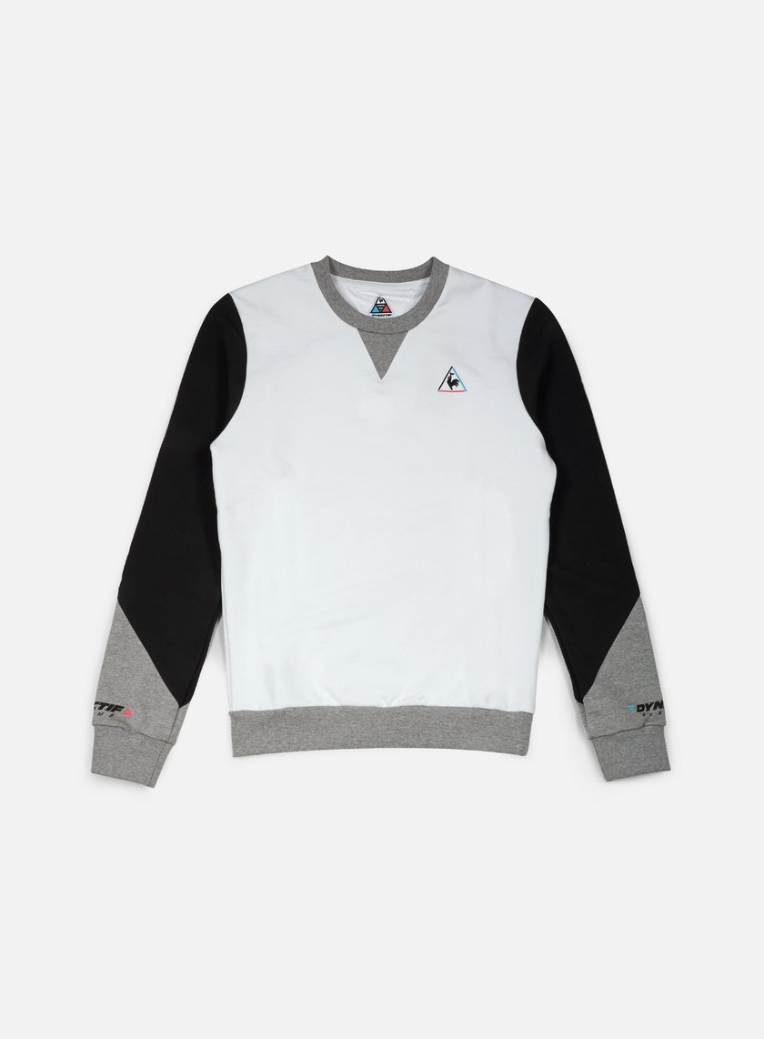 Le Coq Sportif - Dynactif N.1 Crewneck, Optical White