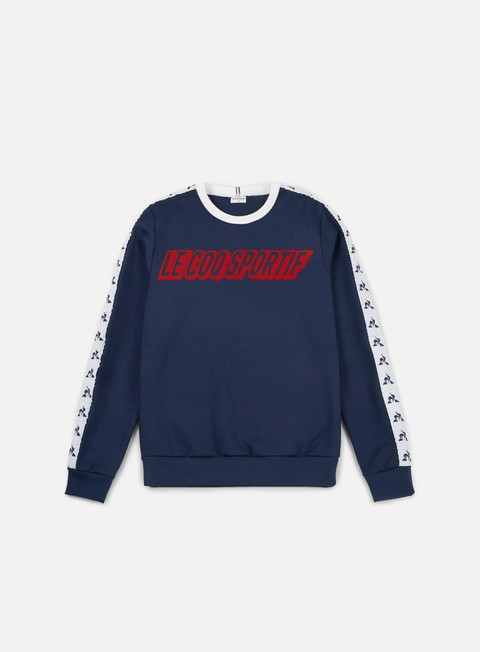 felpe le coq sportif inspi football crewneck dress blues