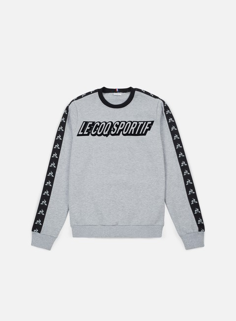 felpe le coq sportif inspi football crewneck heather grey